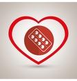 symbol medicine pills icon vector image vector image