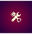 Tools and piston Icon Service simbol Repair vector image vector image