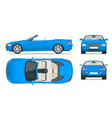 transfer cabriolet car cabrio coupe vehicle vector image vector image