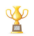 victory award cup prize realistic 3d trophy icons vector image vector image