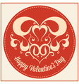 Vintage greeting card for Valentines day holiday vector image vector image