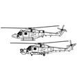 westland lynx vector image vector image