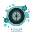 Wheel icon auto part design graphic