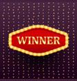 winner luxury retro banner template vector image vector image