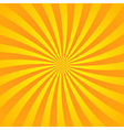 Yellow orange rays poster vector image vector image