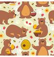 seamless pattern brown bear vector image