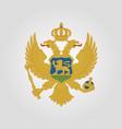 coat of arms of montenegro vector image