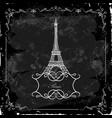 eiffel tower on a blackboard vector image
