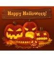 Halloween pumpkin background Scary horror vector image