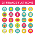 25 Finance Flat Icons in Format vector image