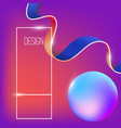 abstract background with dynamic shape vector image vector image