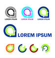 Abstract business logo and icon set vector image vector image