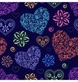 abstract colorful hearts vector image vector image
