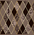 animal beige and brown geometric seamless pattern vector image vector image