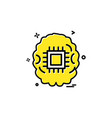 artificial intelligence robot icon design vector image vector image