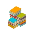 Big set of books tutorials Isometric flat vector image vector image
