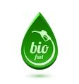 Bio fuel icon vector image vector image