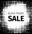 black friday sale retro banner in halftone style vector image vector image