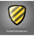 Blank yellow and black caution realistic glossy vector image vector image