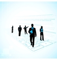 Business People on Technology Background vector image vector image