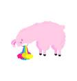 cartoon card cute poster with funny llama vector image
