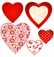 Collection valentine hearts vector image vector image