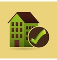 concept ecological icon building vector image