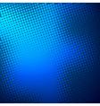 creative blue halftone background vector image
