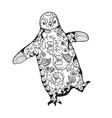 Cute penguin Adult antistress coloring page vector image vector image