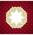 Decorative round frame vector image
