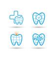 dental care logo design bundle vector image