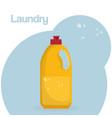 detergent botttle laundry service vector image