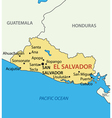 El Salvador - map vector image