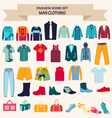 Fashion collection of man wardrobe vector image vector image