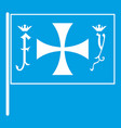 flag of columbus icon white vector image