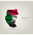 flag of Sudan as the country vector image