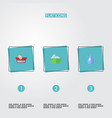 flat icons clothes washing aqua laundry and vector image vector image