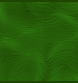 green wave stripe background line textured vector image vector image