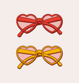 hand-drawn heart shaped glasses isolated on white vector image vector image