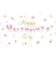 Happy Valentine s Day quote on glitter confetti vector image vector image