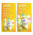 infographic elements vertical banners vector image vector image