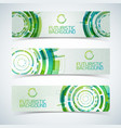 interactive circles banners set vector image vector image