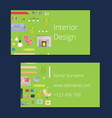 interior design calling card vector image