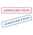 jamaican food textile stamps vector image vector image