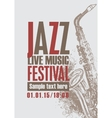 jazz festival with a saxophone vector image