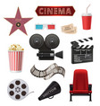 movie realistic cinema objects camera camcorder vector image vector image