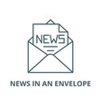 news in an envelope line icon linear vector image vector image