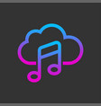 online media cloud audio streaming online music vector image vector image