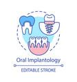 oral implantology concept icon vector image vector image
