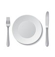 plate cutlery vector image